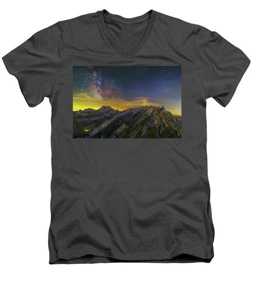 Alpstein Nights Men's V-Neck T-Shirt