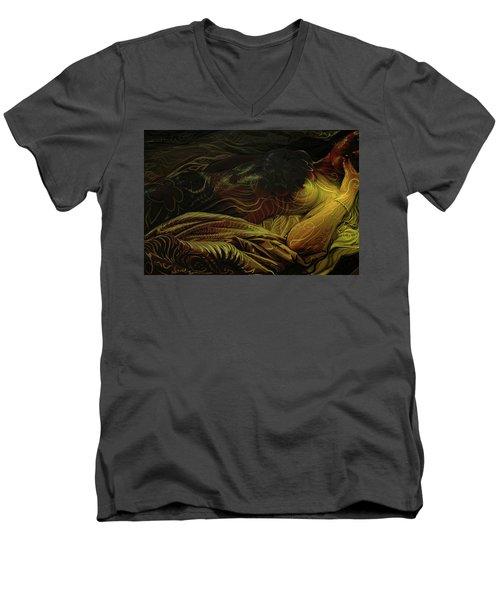 Amber Light Men's V-Neck T-Shirt