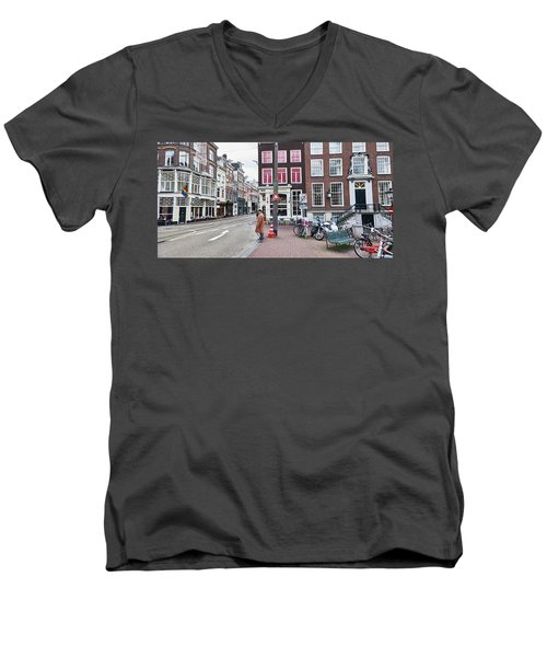 Amsterdam Pride Men's V-Neck T-Shirt