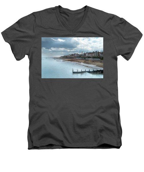 An English Beach Men's V-Neck T-Shirt
