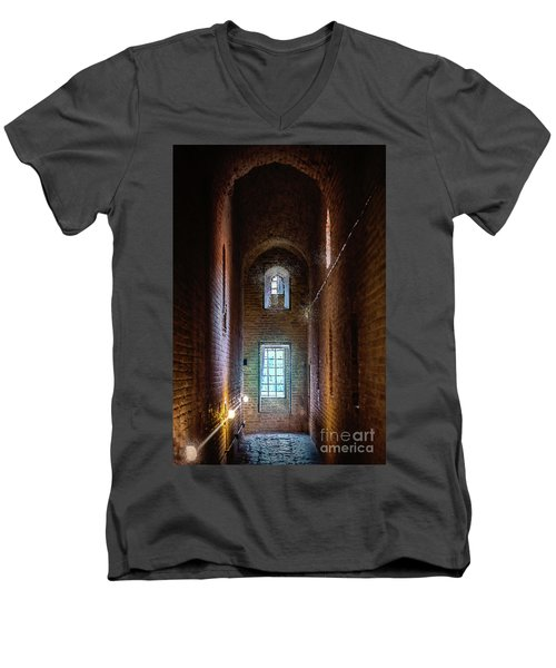 An Entrance To The Casemates Of The Medieval Castle Men's V-Neck T-Shirt