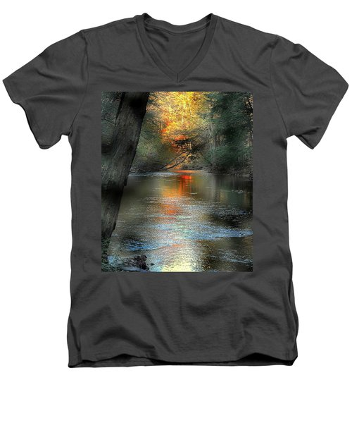 And Autumn Comes  Men's V-Neck T-Shirt
