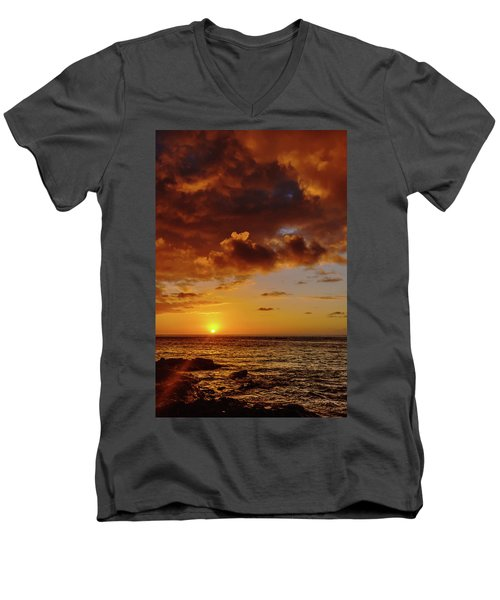 And Then The Sun Set Men's V-Neck T-Shirt