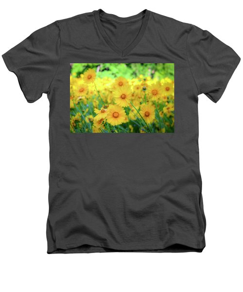 Another Glimpse, Pollinator Field Men's V-Neck T-Shirt