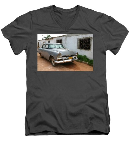 Antique Car Grey Cuba 11300501 Men's V-Neck T-Shirt