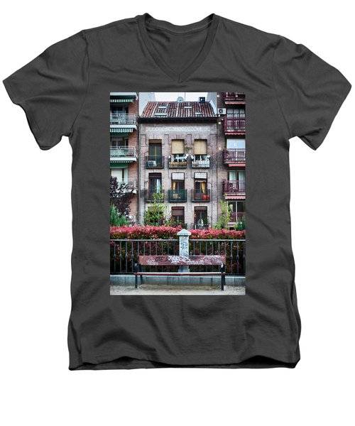 Men's V-Neck T-Shirt featuring the photograph Apartments In Madrid by Eduardo Jose Accorinti
