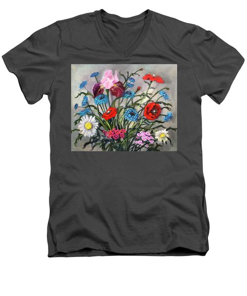 April, May, June Men's V-Neck T-Shirt