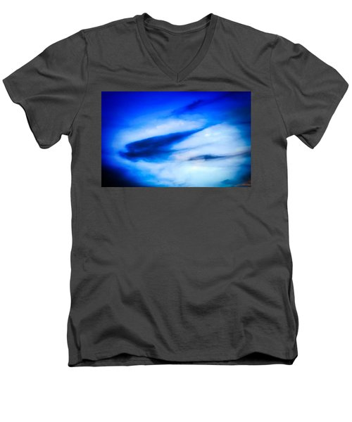 Men's V-Neck T-Shirt featuring the photograph Arizona Angel In Blue by Judy Kennedy