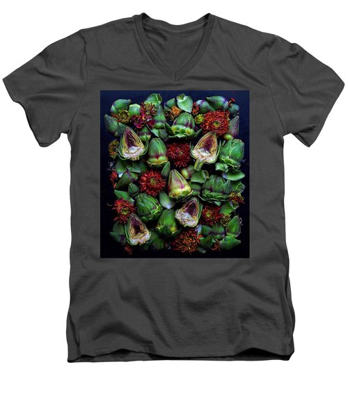 Artichoke Art Men's V-Neck T-Shirt