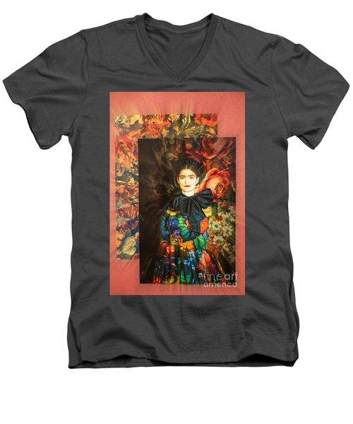 Artistic Frida Kahlo Stream  Men's V-Neck T-Shirt