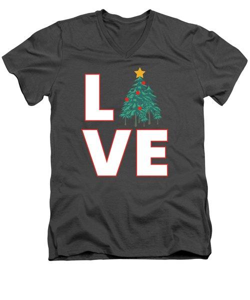 Love Christmas Men's V-Neck T-Shirt