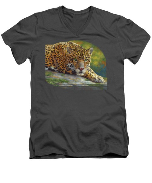 Peaceful Jaguar Men's V-Neck T-Shirt