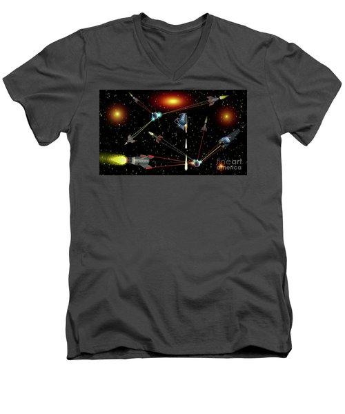Attacked Men's V-Neck T-Shirt