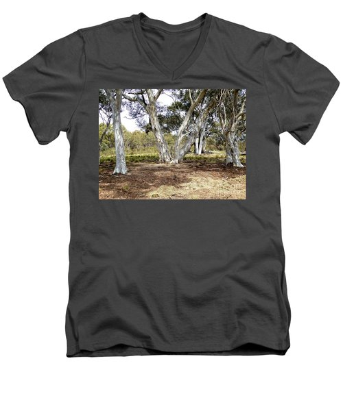 Australian Bush Scene Men's V-Neck T-Shirt