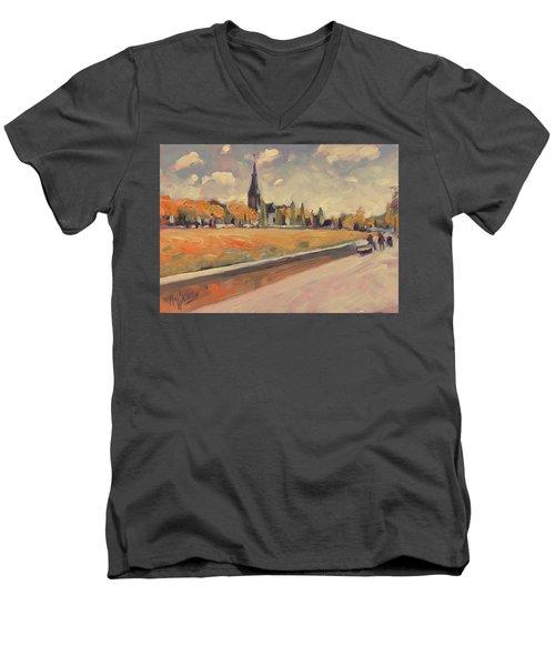 Autumn Along The Griend Men's V-Neck T-Shirt