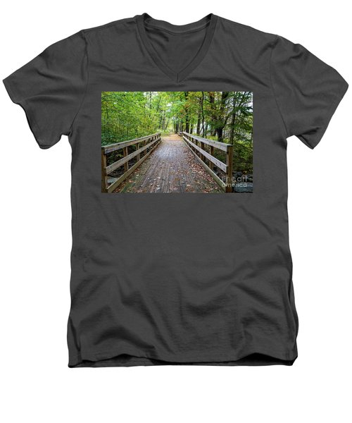 Autumn Bridge Men's V-Neck T-Shirt