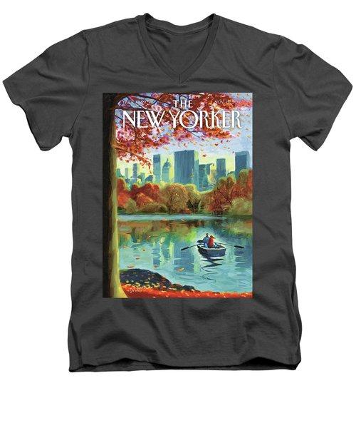 Autumn Central Park Men's V-Neck T-Shirt