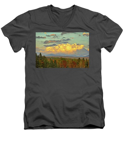 Autumn Clouds Over Maine Men's V-Neck T-Shirt