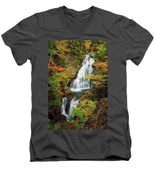 Autumn Falls, Crystal Cascade Men's V-Neck T-Shirt