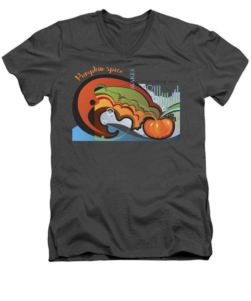 Autumn Greetings Card Men's V-Neck T-Shirt