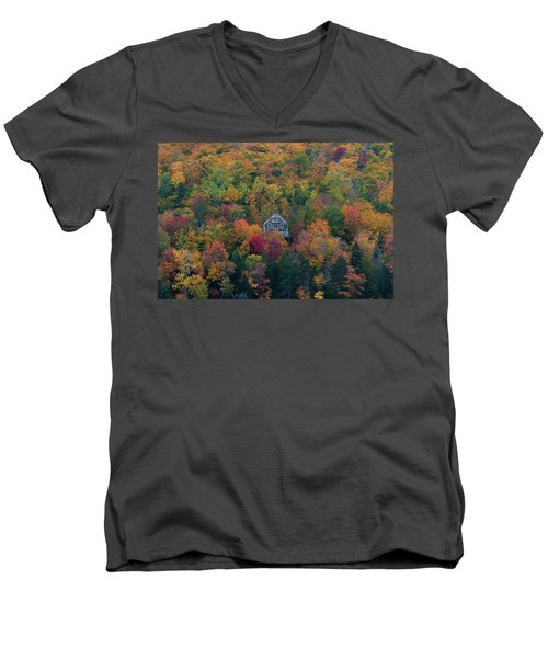 Autumn In Maine Men's V-Neck T-Shirt