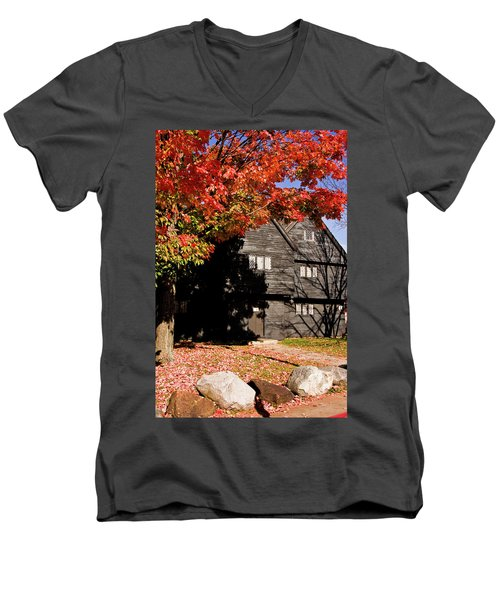 Autumn In Salem Men's V-Neck T-Shirt