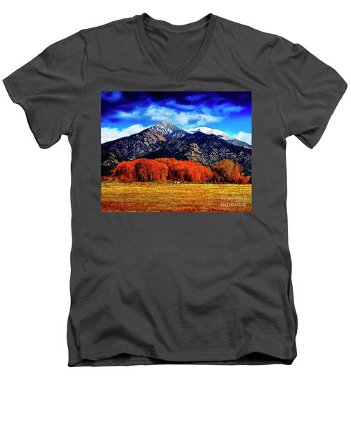 Autumn In Taos New Mexico Men's V-Neck T-Shirt