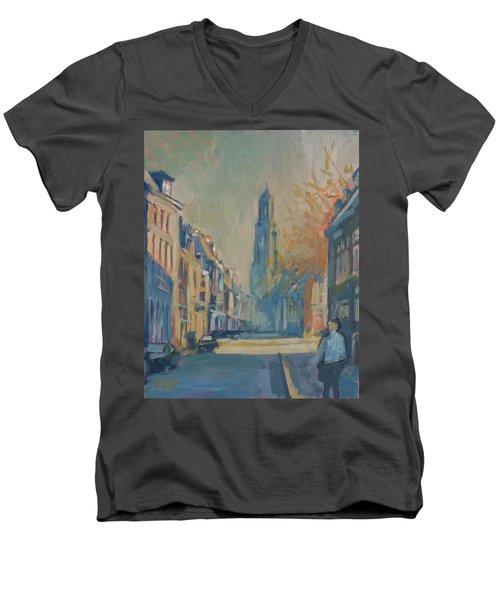 Autumn In The Lange Nieuwstraat Utrecht Men's V-Neck T-Shirt