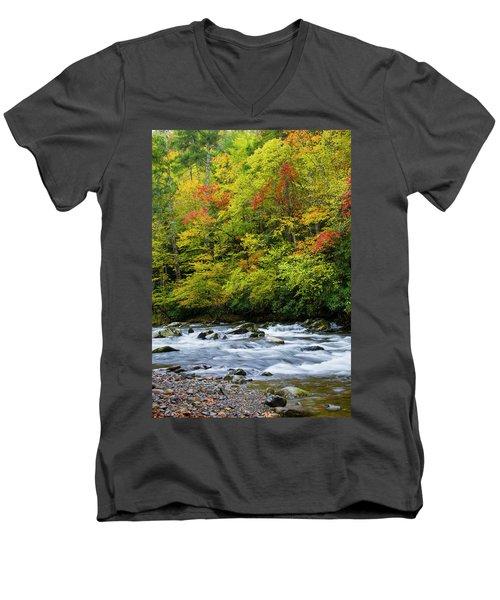 Autumn Stream Men's V-Neck T-Shirt