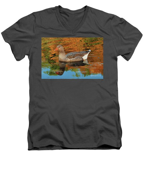 Autumn Swim Men's V-Neck T-Shirt