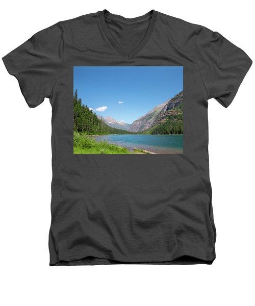 Avalanche Lake Men's V-Neck T-Shirt