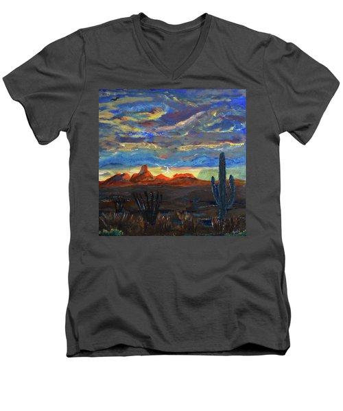 Baboquivari Peak Men's V-Neck T-Shirt