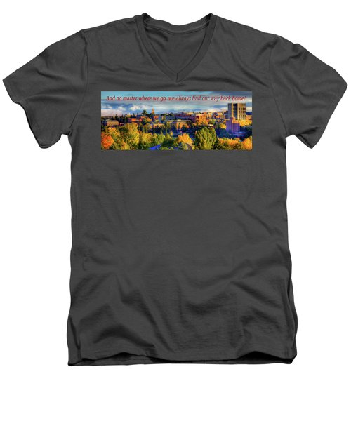 Men's V-Neck T-Shirt featuring the photograph Back Home 3 by David Patterson