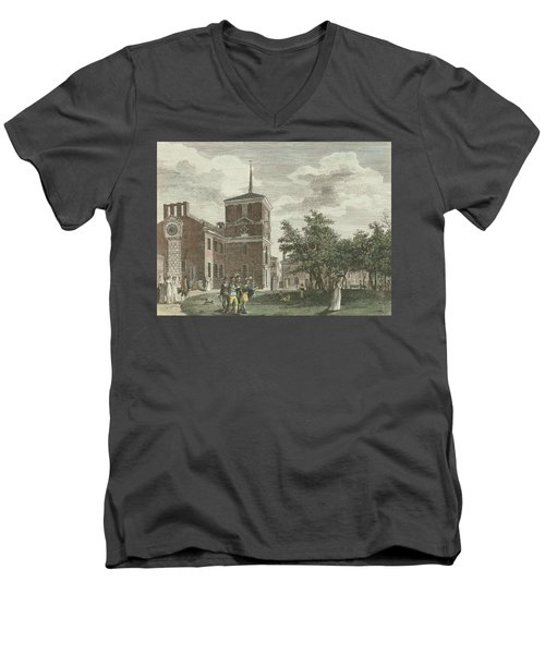 Back Of State House Men's V-Neck T-Shirt