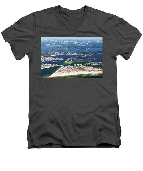 Backwaters 5122-a Men's V-Neck T-Shirt
