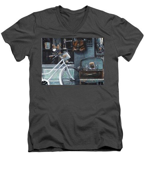 Bagging A Bargain Men's V-Neck T-Shirt