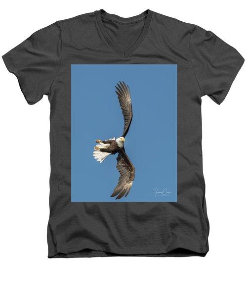 Banking Bald Eagle Men's V-Neck T-Shirt
