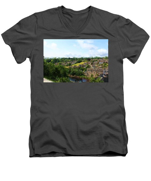 Barnard Castle View Men's V-Neck T-Shirt