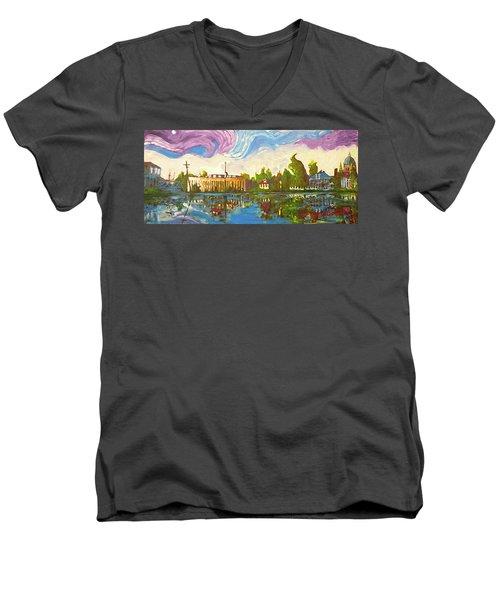 Bayou Saint John One Men's V-Neck T-Shirt