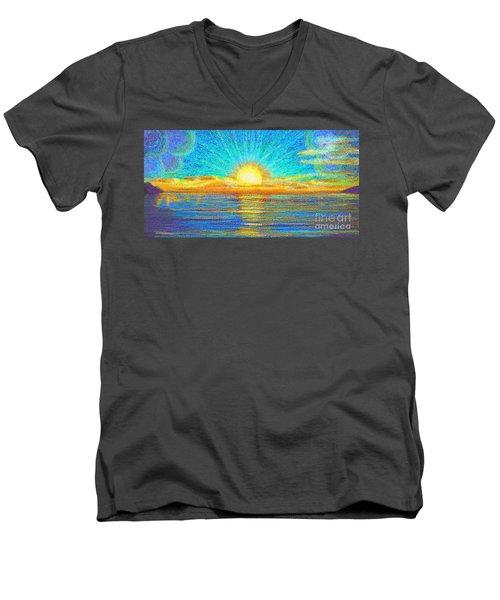 Beach 1 6 2019 Men's V-Neck T-Shirt