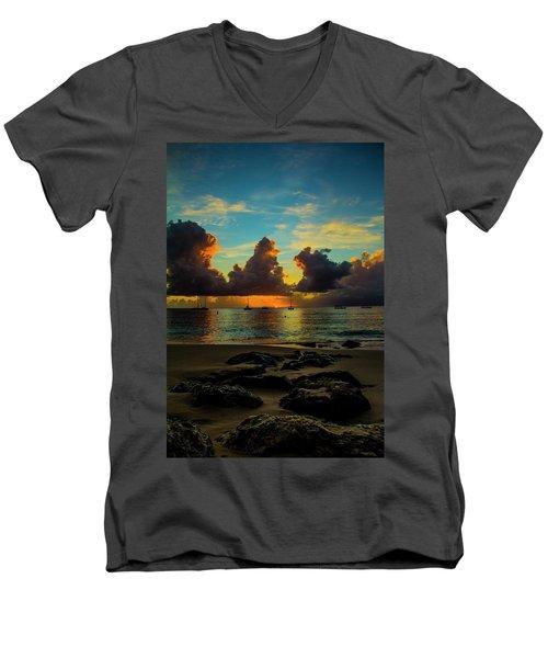 Beach At Sunset 2 Men's V-Neck T-Shirt