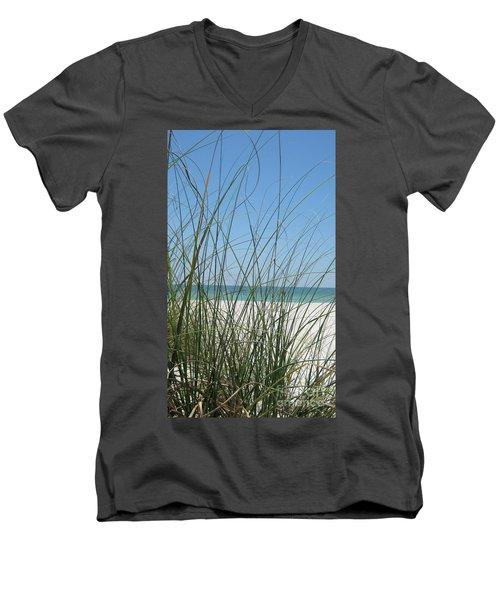 Beach View Men's V-Neck T-Shirt