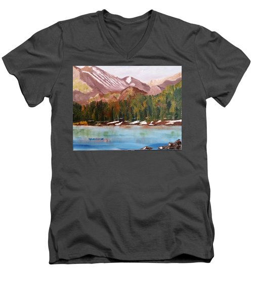 Bear Lake And The Keyboards Men's V-Neck T-Shirt