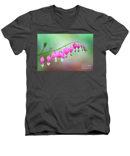 Beautiful Bleeding Hearts Men's V-Neck T-Shirt