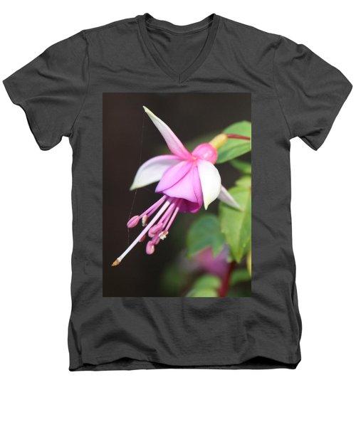 Beautiful Fuchsia Men's V-Neck T-Shirt