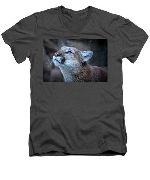 Beautiful Puma Men's V-Neck T-Shirt