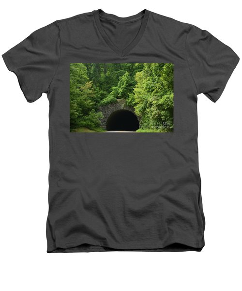 Beautiful Tunnel With Greenery, Nc Men's V-Neck T-Shirt