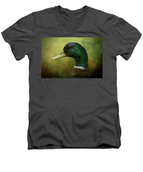 Beauty In Green Men's V-Neck T-Shirt
