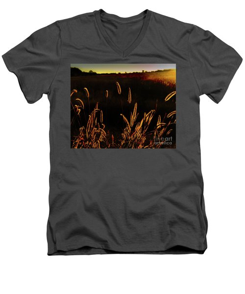 Beauty In Weeds Men's V-Neck T-Shirt
