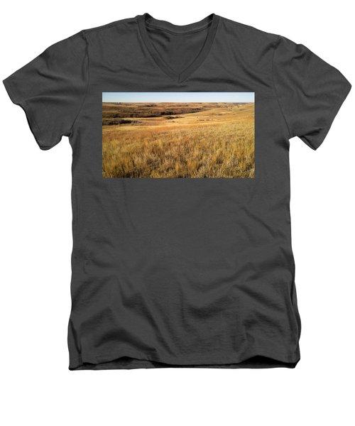 Beauty On The High Plains Men's V-Neck T-Shirt